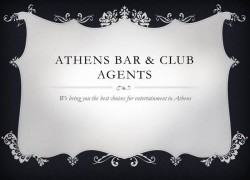 Athens Bar & Club Agents Cover Image